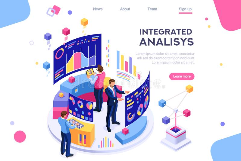 Management Interactive Chart Visualizzation Analysis. Chart analyzing, statistics visualization display. Database, desktop visualization management. Interactive stock illustration