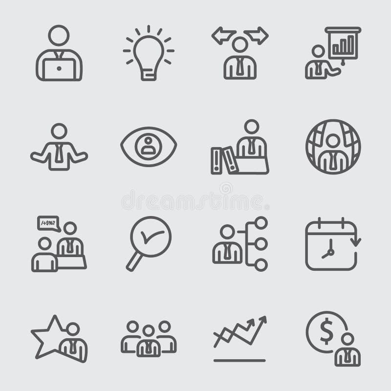 Management_1 linje symbol stock illustrationer