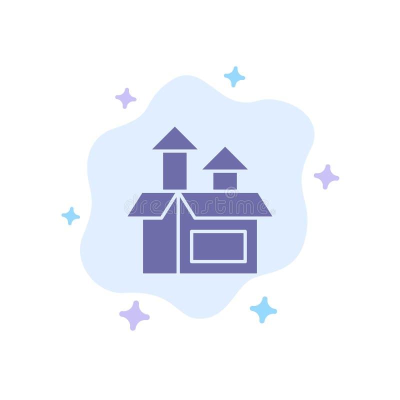 Management, Methode, Leistung, Produkt Blue Icon auf abstrakten Cloud-Hintergrund vektor abbildung