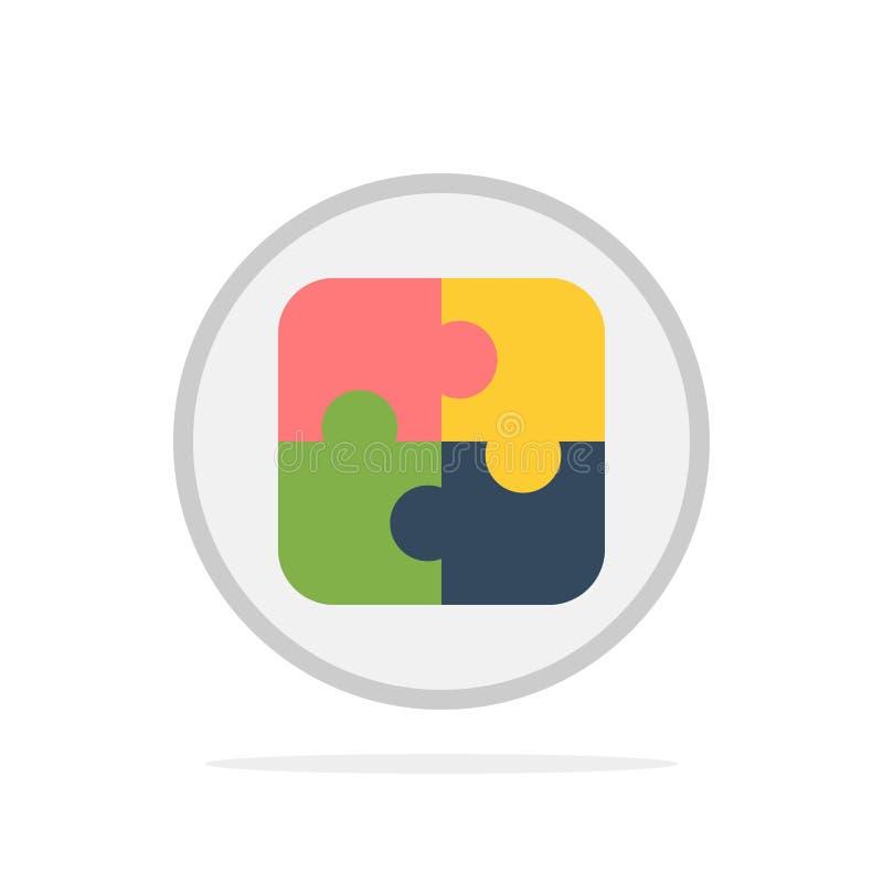 Management, Plan, Planung, flache Ikone Farbe des Lösungs-Zusammenfassungs-Kreis-Hintergrundes stock abbildung