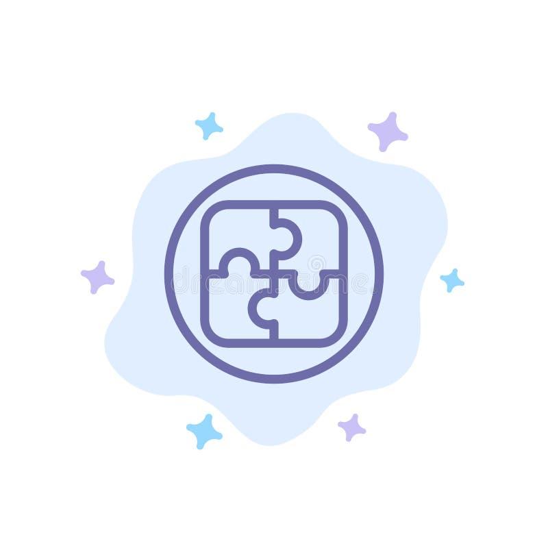 Management, Plan, Planung, Lösungs-blaue Ikone auf abstraktem Wolken-Hintergrund vektor abbildung