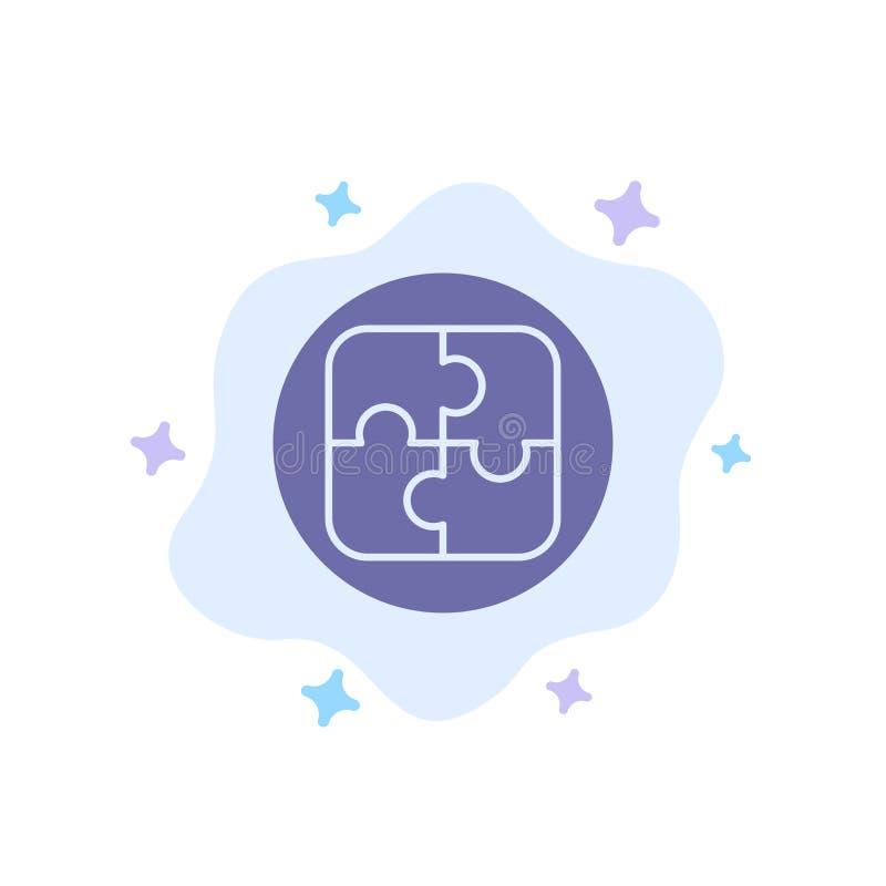Management, Plan, Planung, Lösungs-blaue Ikone auf abstraktem Wolken-Hintergrund lizenzfreie abbildung