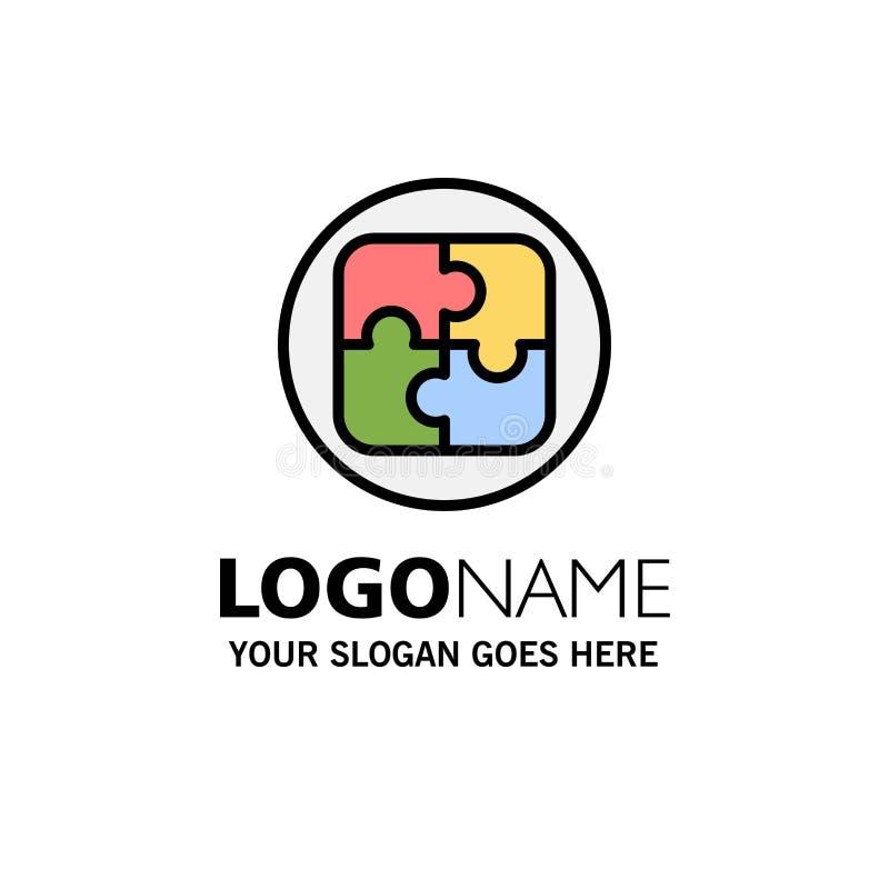 Management, Plan, Planung, Lösungs-Geschäft Logo Template flache Farbe lizenzfreie abbildung