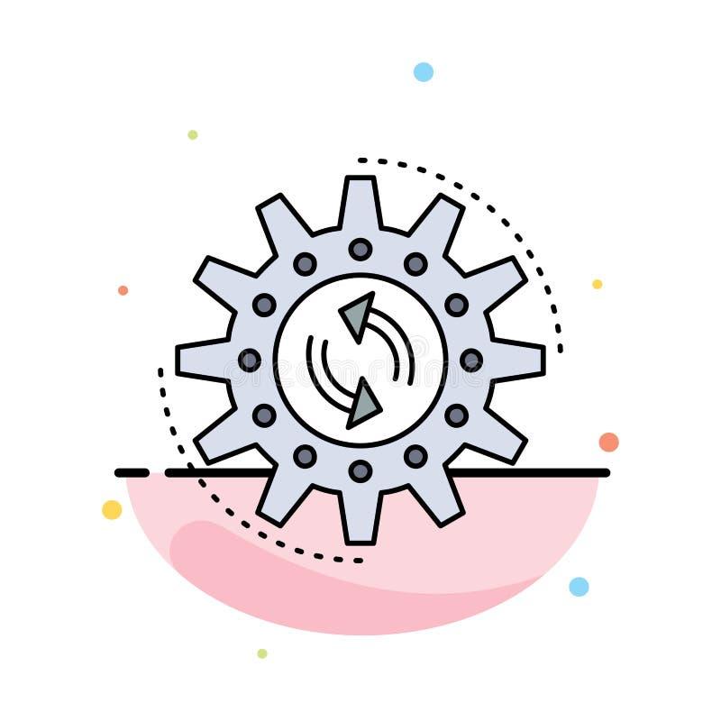 Management, Prozess, Produktion, Aufgabe, Arbeit flacher Farbikonen-Vektor vektor abbildung