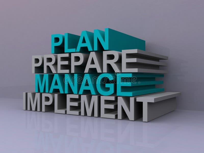 Management slogans stock illustration