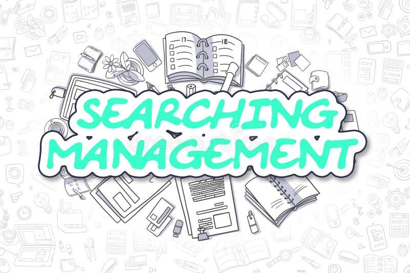 Management suchen - Karikatur-grünen Text Die goldene Taste oder Erreichen für den Himmel zum Eigenheimbesitze vektor abbildung