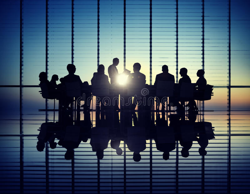 Management Team in a Meeting royalty free stock photography