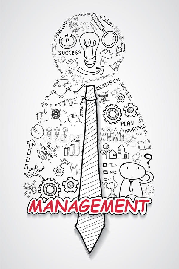 Download Management Text With Creative Drawing Charts And Graphs Business Success Strategy Plan Idea