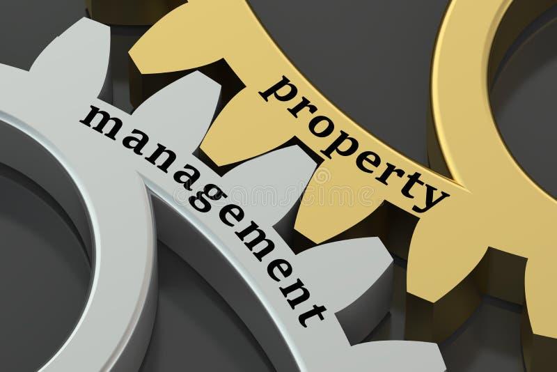 Management- und Eigentumskonzept auf den Zahnrädern vektor abbildung