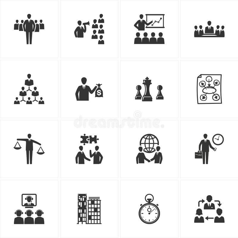 Management-und Geschäfts-Ikonen lizenzfreie abbildung