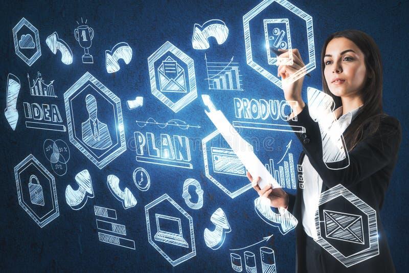 Management- und Karrierekonzept lizenzfreie stockfotos