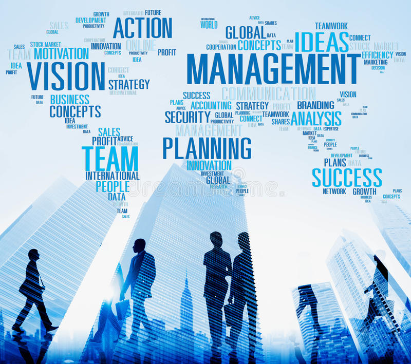 Management Vision Action Planning Success Team Business Concept stock photography
