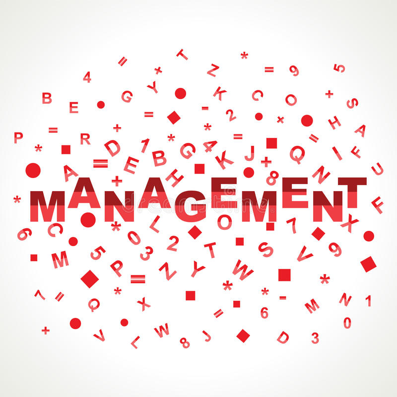 Management word with in alphabets. Stock vector stock illustration