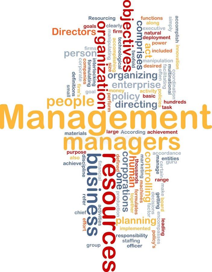 Management word cloud stock illustration
