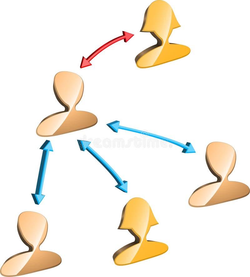 Managementstruktur vektor abbildung