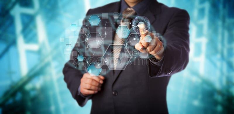 Manager-Activating Artificial Neural-Netz-APP lizenzfreies stockbild