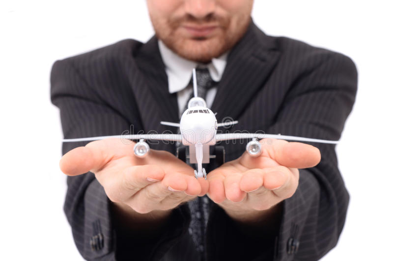 Manager from airport. Isolated on the white background royalty free stock images