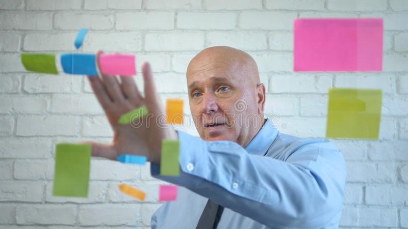 Manager Analyze and Explain a Business Project in a Meeting royalty free stock photo