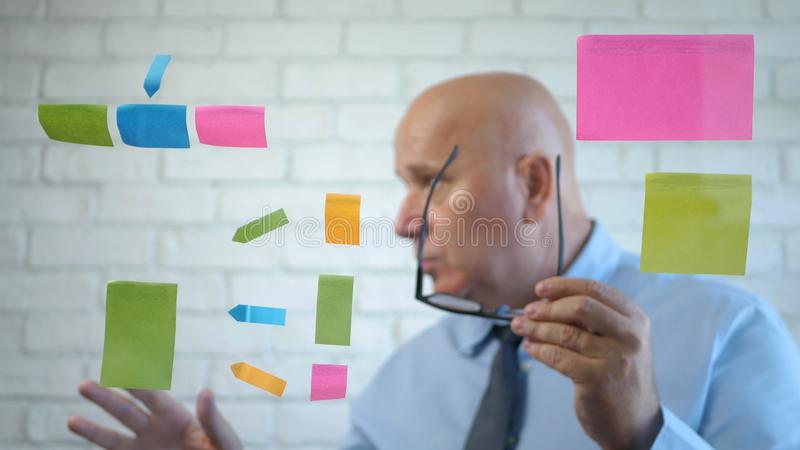 Manager Analyze and Explain a Business Project in a Meeting.  royalty free stock images