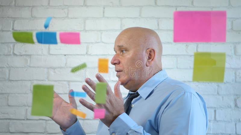 Manager Analyze and Explain a Business Project in a Meeting.  stock photo