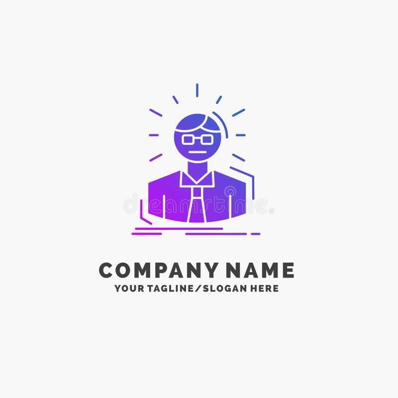 Manager, Angestellter, Doktor, Person, Gesch?ftsmann-purpurrotes Gesch?ft Logo Template Platz f?r Tagline lizenzfreie abbildung
