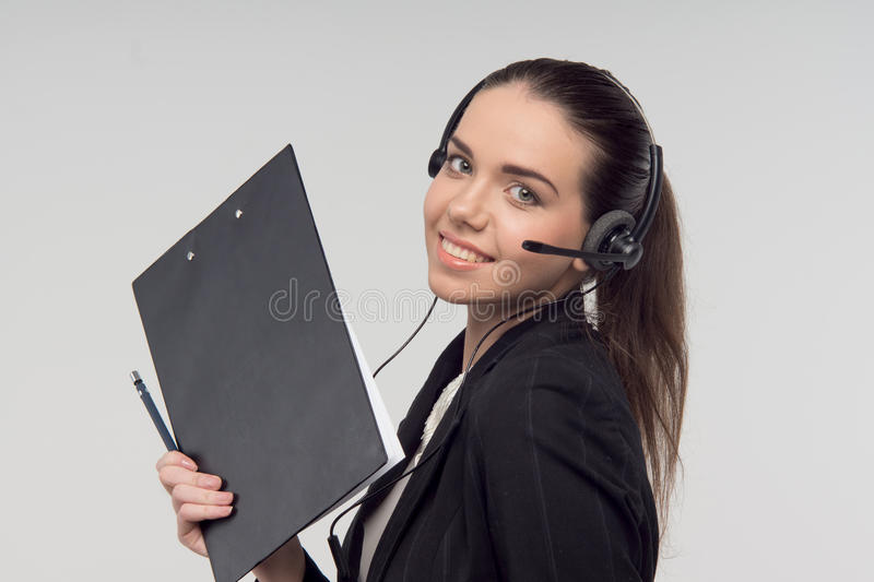 Manager in call centre stock foto