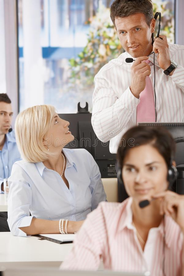 Download Manager At Customer Service Stock Image - Image: 12915531