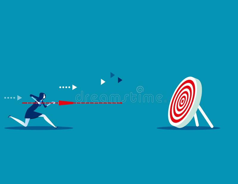 Manager determination and target. Concept business vector illustration. Flat design style stock illustration