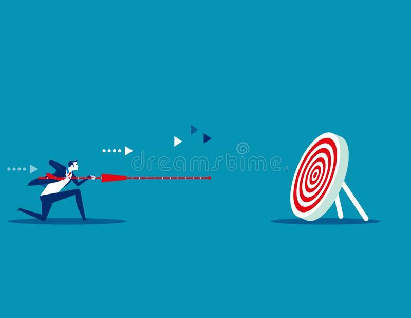 Manager determination and target. Concept business vector illustration. Flat design style vector illustration