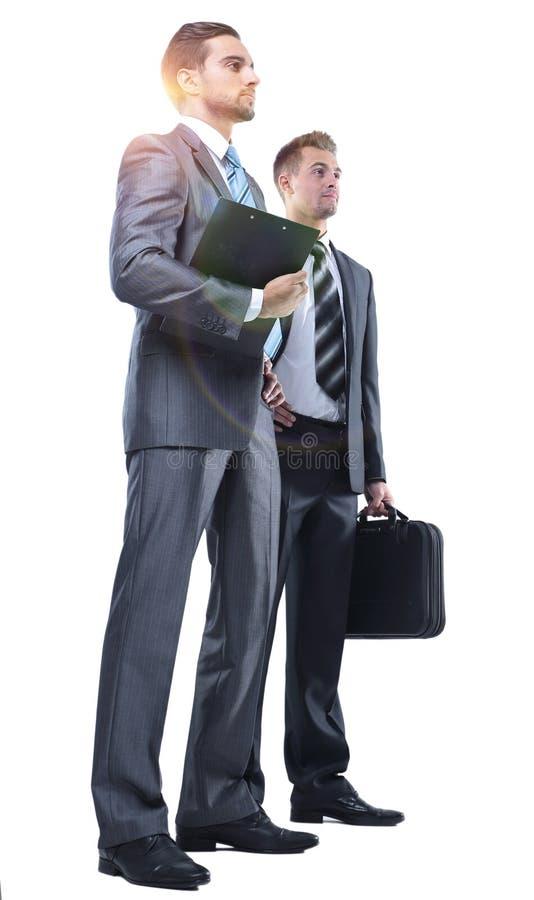 Manager en de advocaat met documenten stock afbeelding