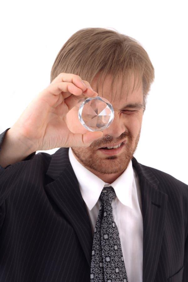 Manager en diamant royalty-vrije stock foto