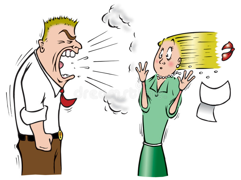 Manager en intern stock illustratie