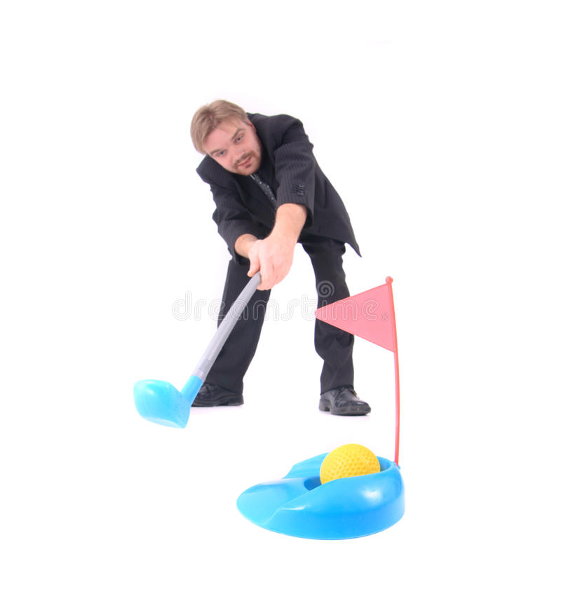 Manager And Golf Royalty Free Stock Photo