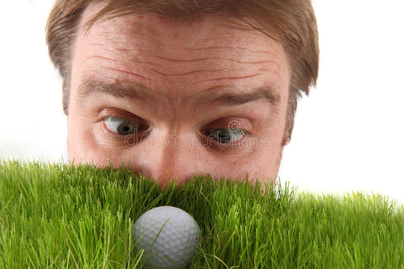 Manager and golf ball royalty free stock photos