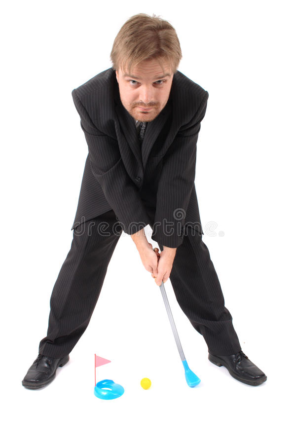 Download Manager and golf toy stock photo. Image of innovative - 13890730