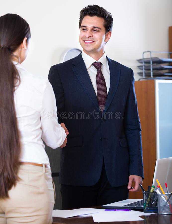 Manager greeting new employee stock image image of greet asian download manager greeting new employee stock image image of greet asian 65408739 m4hsunfo