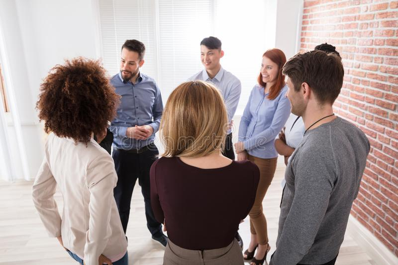Manager With His Business Colleagues royalty free stock images