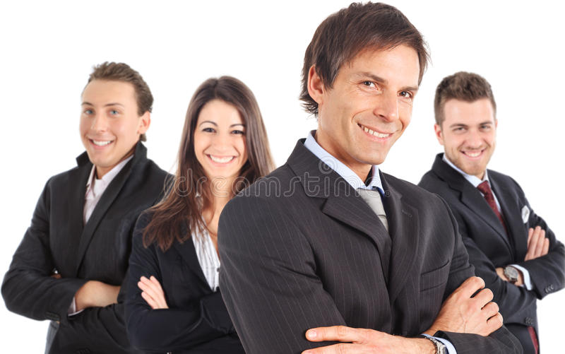 Manager and his team royalty free stock photos