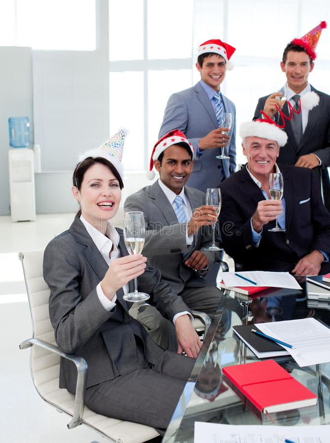 Manager And His Team At A Party Stock Images