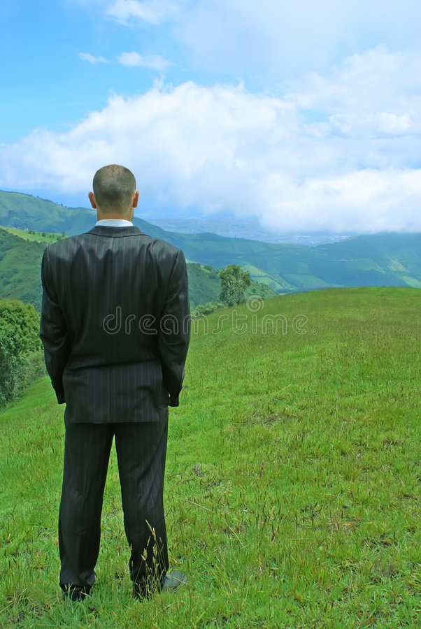 Free Manager In The Mountains Stock Image - 1876001