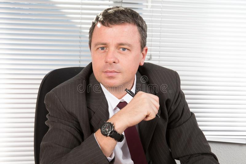 manager man look serious at office royalty free stock images