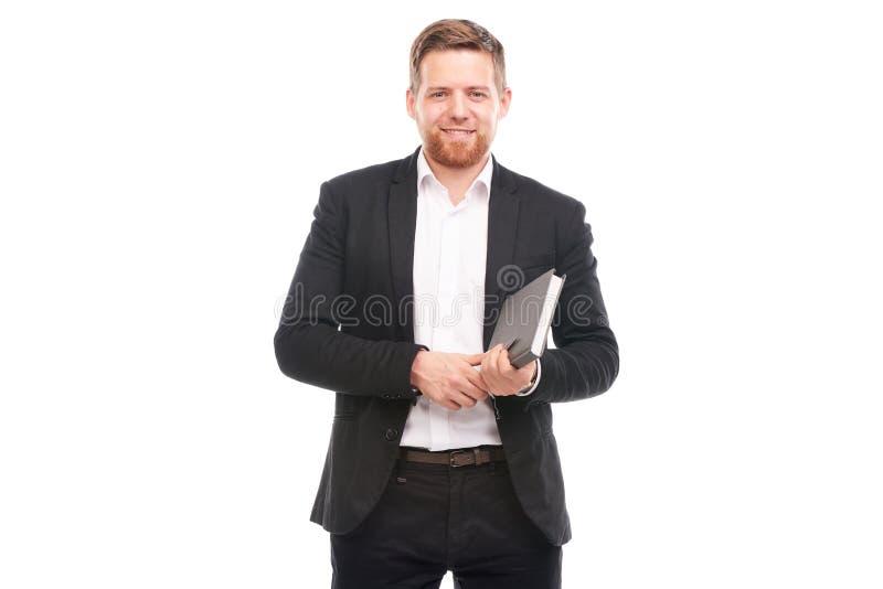 Manager mit persönlichem Organisator lizenzfreie stockbilder
