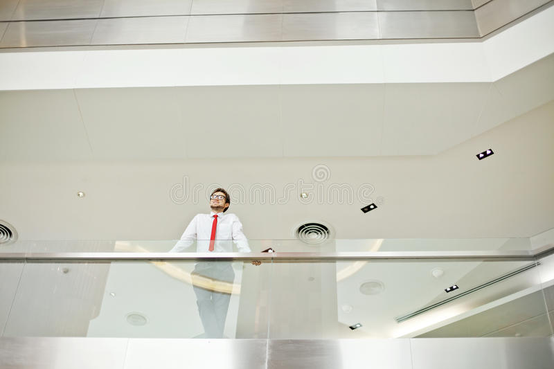 Manager in modern office building royalty free stock images