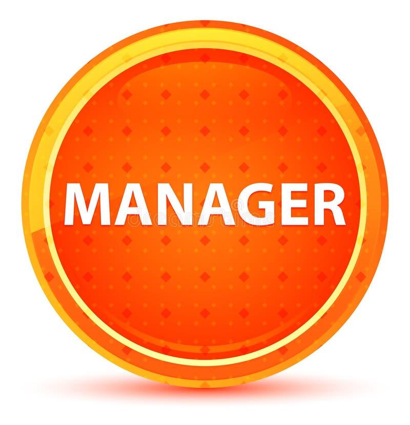 Manager-Natural Orange Round-Knopf vektor abbildung