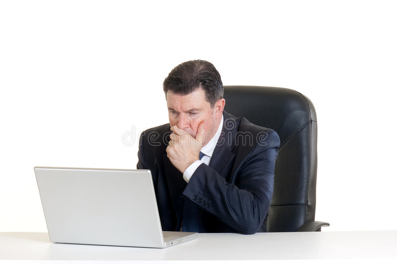 Manager with notebook royalty free stock photos