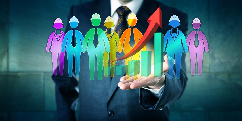 Manager-Offering Successful Multiethnic-Arbeits-Team stockfotografie