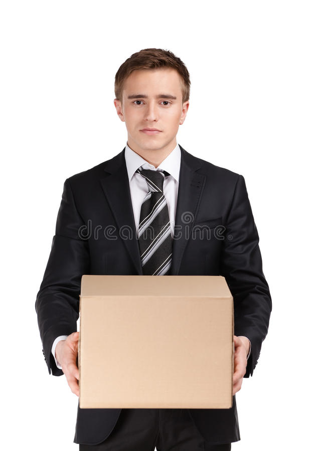 Download Manager with parcel stock image. Image of hand, male - 27366485