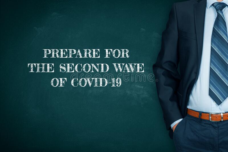 Manager prepare company for a second wave of covid-19 royalty free stock images