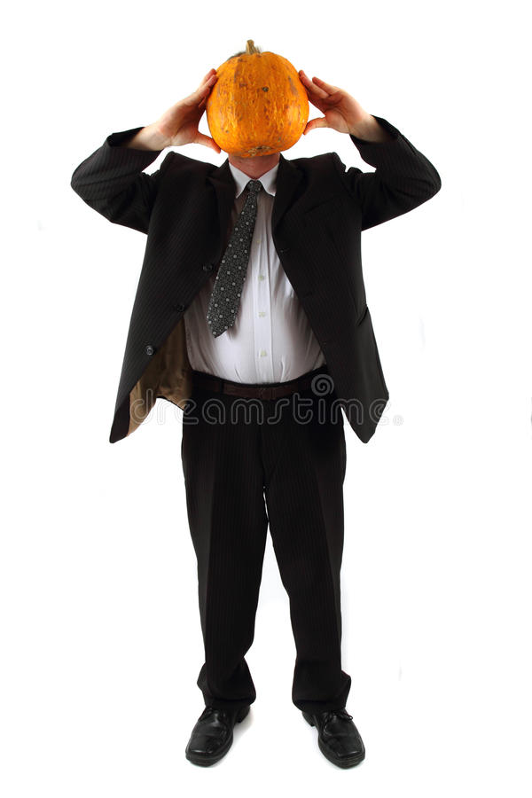 Download Manager with pumpkin head stock photo. Image of crazy - 20059230