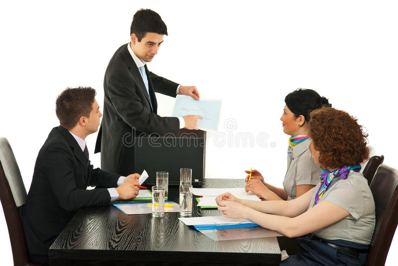 Download Manager Showing Diagram To His Team Stock Image - Image: 24164793